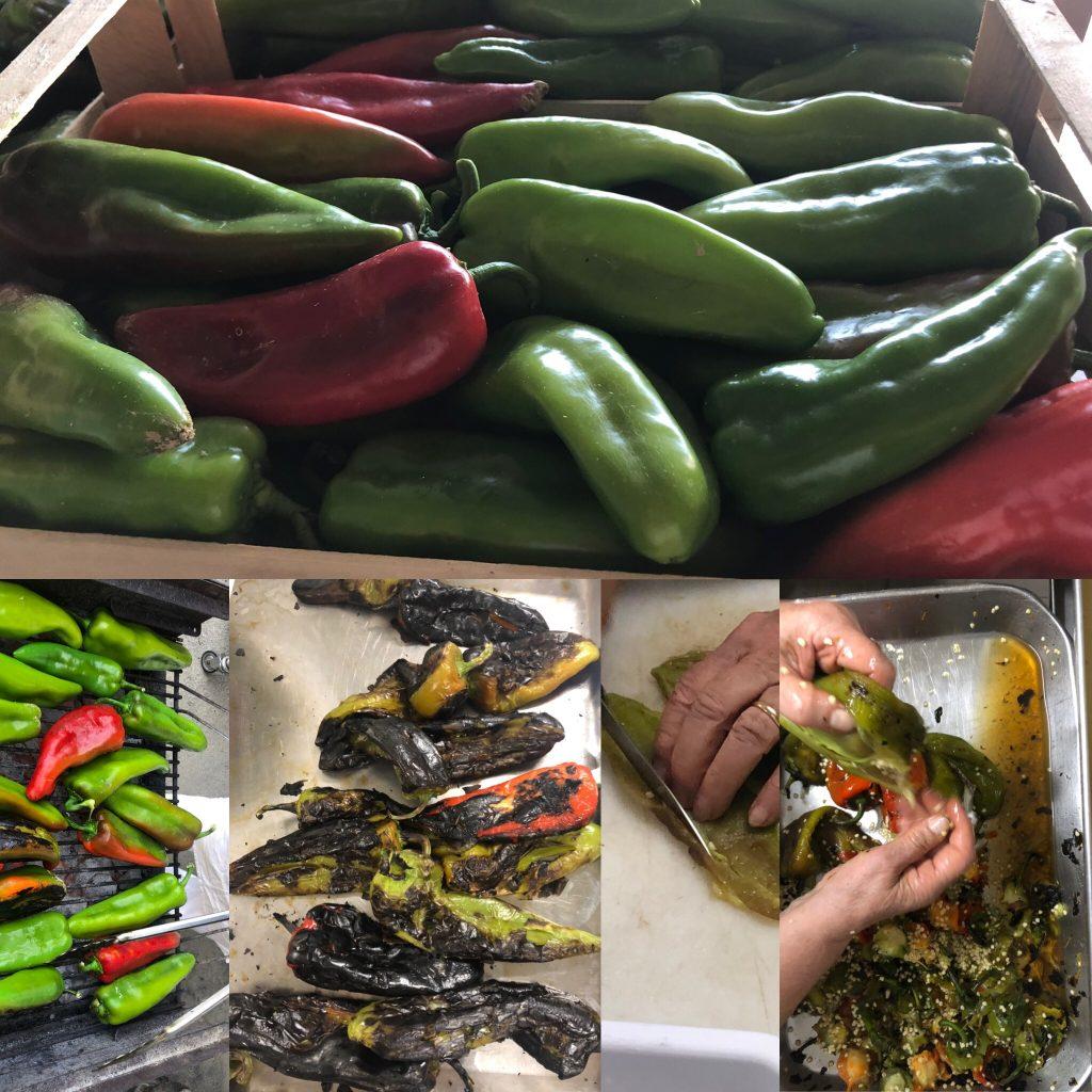 I peperoni arrosto vengono cotti sulla brace, possono essere consumati subito o conservati in dei barattoli per l'inverno.